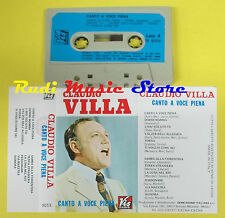 MC CLAUDIO VILLA Canto a voce piena italy VIS RADIO 9059 no cd lp dvd vhs