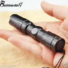 3W Police LED Flashlight Ultra Super Bright Waterproof Mini AA Focus Torch Clip