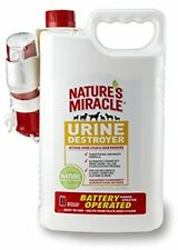 Nature's Miracle Stain + Odor Urine Remover, Sprayer w/ Batteries, 1.5 Gallon