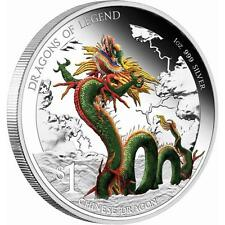 2012 $1 Dragons of Legend. Chinese Dragon. 1oz Silver Proof Coin Perth Mint