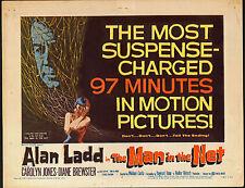 THE MAN IN THE NET original 1959 movie poster ALAN LADD/CAROLYN JONES