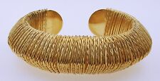 Gold Colored Bracelet with Weave Design by Chuns, Sz. 5.5inches