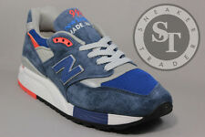 NEW BALANCE CLASSICS M998CSAL MADE IN THE USA NAVY SILVER ORANGE DS SIZE: 9