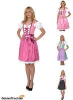 Dirndl Set 3tlg.-Trachtenkleid Pink, Grün&Weiß Kariert Dirndl Gr.:34,36,38,40,42