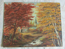 Vintage Oil Painting On Canvas/Board ' Autumn Splendor', Signed By Frank Bogart