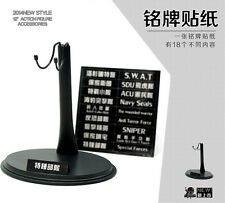 NEW 1/6 Scale Action Figure Stand Platform Holder Support with Name Card U Type