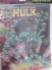THE INCREDIBLE  HULK  3D POSTER  MINT NEW SEALED GREAT PARTY FAVOR ETC