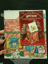 Vintage 80's Strawberry Shortcake Christmas Gift box new in plastic! Rare!