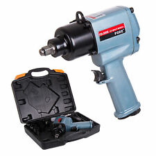 "Air Impact Wrench 1/2"" Inch SQ Drive FORE 627 ft. lb. with Case and 8x Socket"