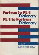 Fortran PL/1 Programming Dictionary Reference 1975 Computer Languages