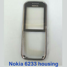 100% Genuine Nokia 6233 Front Fascia Housing with screen lens panel - Black