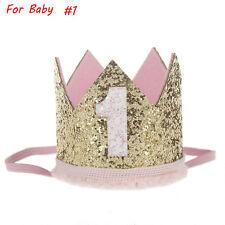 Kid Girl Baby Party Crown Headband Gold Hair Band Festival Birthday Headwear