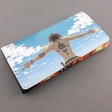 ONE PIECE PORTAFOGLIO WALLET ACE D PORTGAS MONKEY D LUFFY RUFY RUBBER COSPLAY #1