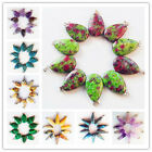 10Pcs Beautiful Mixed Gemstone Teardrop Pendant Bead XLZ-86
