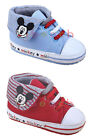 Infant Baby Boy Girl Mickey Mouse High Top Crib Shoes Size 0-6 6-12 12-18 Months