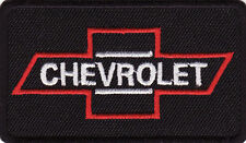 "Chevrolet 2 3/4"" Black Banner Embroidered Iron On Car Banner Patch *New*"