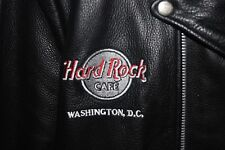 Vintage Black Leather Hard Rock Cafe Leather Motorcycle Jacket