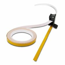 TRIK MOTO MOTORCYCLE WHEEL RIM STRIPES REFLECTIVE YELLOW + 3M APPLICATOR