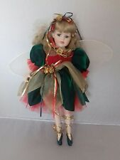 "16"" Porcelain doll dressed in fairy/jester costume"