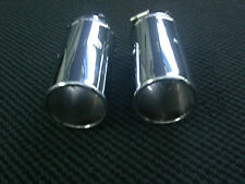 AUDI A4 Chrome Exhaust Tips fits all 40-55mm exhaust pipes (40% off RRP)