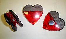 """3  """"HEART"""" CLIP REFRIGERATOR MAGNETS"""