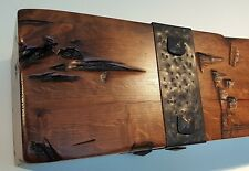 Fireplace Mantel Reclaimed Beam Alder Rustic Rough Sawn Salvaged Tie Rail Post