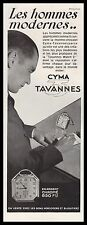 Publicité Montre CYMA  TAVANNES Watch photo vintage  ad  1930 -1i