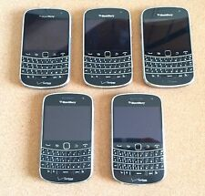 LOT OF 5 VERIZON BLACKBERRY BOLD 9930 BLK Cam FOR PARTS OR REPAIR BAD KEYBOARD