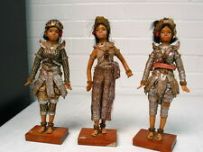 CAMBODIAN / THAI PRINCESS AUTHENTIC GIRL DOLLS HANDMADE UNIQUE NEW LISTING SET
