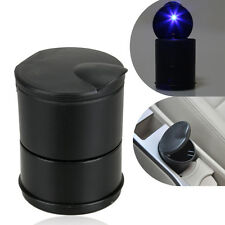 Portable Office Car Truck LED Light Cigarette Smoke Ashtray Ash Cylinder Black