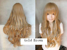 Cosplay Dragon X Tiger/ Aisaka Taiga Long Pale Golden Brown Curly Wig  &627