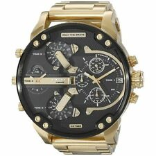Diesel Men's DZ7333 Mr. Daddy 2.0' Chronograph 4 Time Zones Gold-Tone Watch