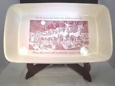"Johnson Brothers Twas the Night Before Christmas 15"" Rectangular Baker"