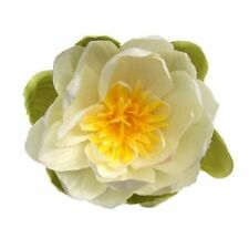LOTUS ARTIFICIAL FLOWER HAIR CLIP/PIN BROOCH  (WHITE)