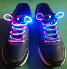 Bi Color Pink/White LED Lighted Shoe Laces + Extra Batteries- Ships from USA!