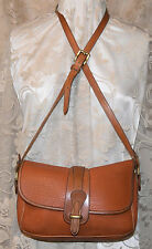 DOONEY & BOURKE AWLEATHER VINTAGE EQUESTRIAN SHOULDER RARE PEANUT EXC CONDITION