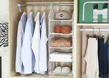 Closet Organizer Portable Rack Storage Hanger Clothes Wardrobe 5 Shelf [KOREA]