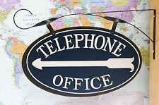 POTTERY BARN VINTAGE TELEPHONE OFFICE SIGN –NIB– A DIRECT LINE TO A COOL DISPLAY