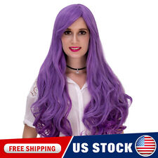 Lolita Ombre Wig Purple Gradient Synthetic Heat resistant Women Cap Curly Hair