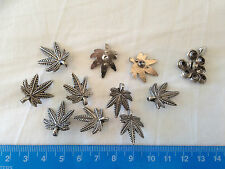 Leather Studs Leaf Design Gunmetal Effect Rivet Back (Pack Of TEN Studs).