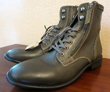 Diesel The Pit Pataboot Olive Leather Men's Boot Size Eur 45, US 11.5 - New!