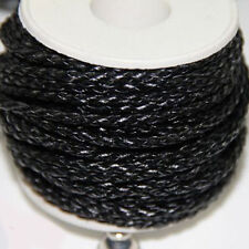 Faux Leather Braided Necklace Cord Thread Plaited Imitation Twisted Thong 3mm