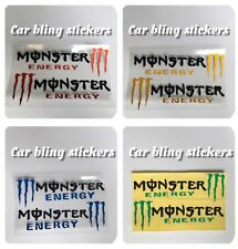 monster Mirror stickers Black Silver Blue  Red Green Yel Claw Bikes Helmets Moto
