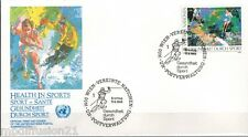 1988//FDC.ENVELOPPE 1°JOUR**-TENNIS-NATIONS UNIES-1400 VIENNE**TIMBRE..Y/T.86
