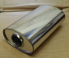 "8"" x 5"" Oval x 14"" Long Universal stainless steel exhaust silencer"