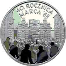 Poland / Polen - 10zl 40th Anniversary of March 1968
