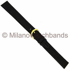 18mm Milano Genuine Lizard Brown Flat Stitched Mens Watch Band XX- LONG