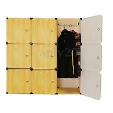 DIY Portable Closet Storage Organizer Clothes Wardrobe Rack Shelves 9 Cube Decor