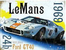 Le Mans 1969 Ford GT40 small steel sign 200mm x 150mm (og)
