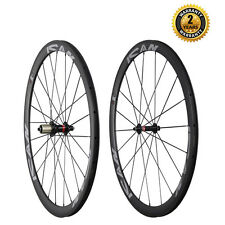 ICAN 38mm Clincher Carbon Wheelset For Road Bike Novatec Hub A291SB/ F482SB